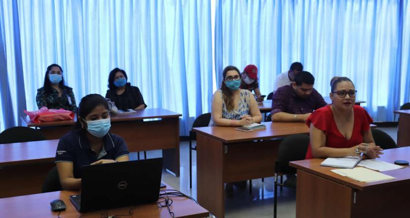 Presentación de planes de trabajo durante el segundo encuentro virtual.
