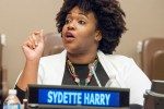 Sydette Harry (Community Lead, The Coral Project) at the UNAOC #SpreadNoHate Symposium (United Nations, Dec. 2015)