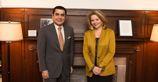 HR Al-Nasser meets with Renown Soprano Renee Fleming