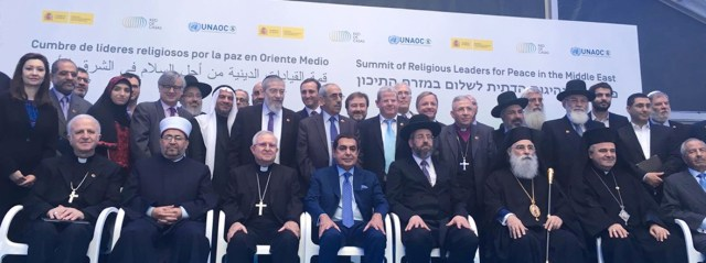 UNAOC sponsors and hosts with Ministry of Foreign Affairs of Spain a summit of religious leaders for peace in the Middle East in Alicante