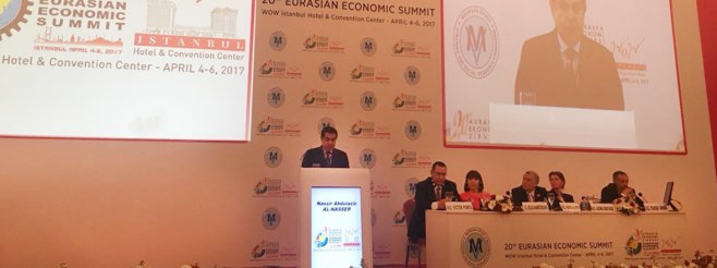 Remarks by H.E. Al-Nasser at the 20th Eurasian Economic Summit in Istanbul, Turkey