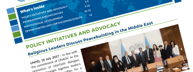 Read the latest UNAOC Newsletter