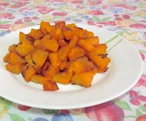 CUBETTI DI ZUCCA AL FORNO (senza glutine, ricetta light, vegetariana, vegana)