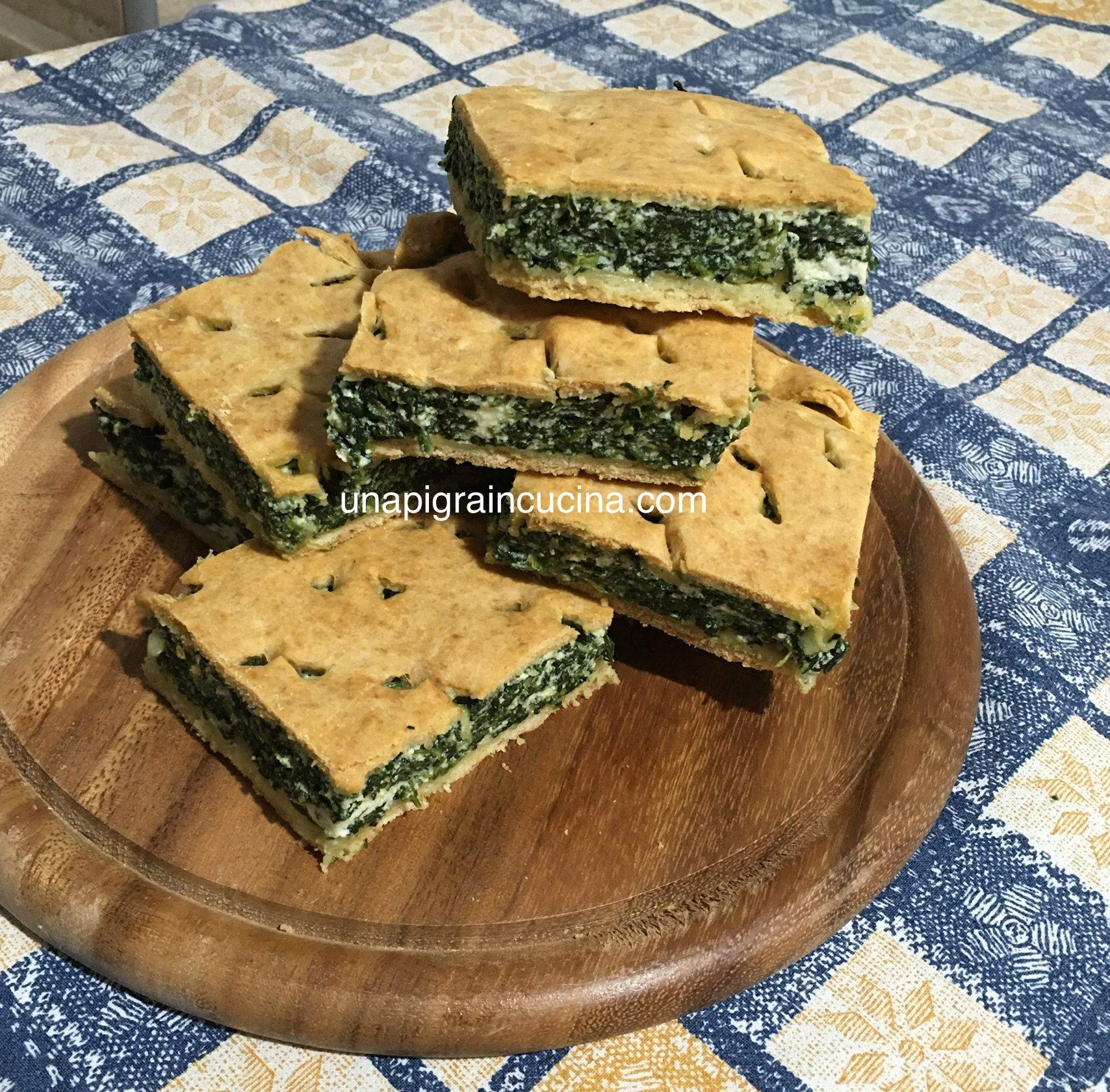 Ricetta Torta Salata Con Spinaci Senza Ricotta.Torta Salata Ricotta E Spinaci Senza Lievito Di Birra