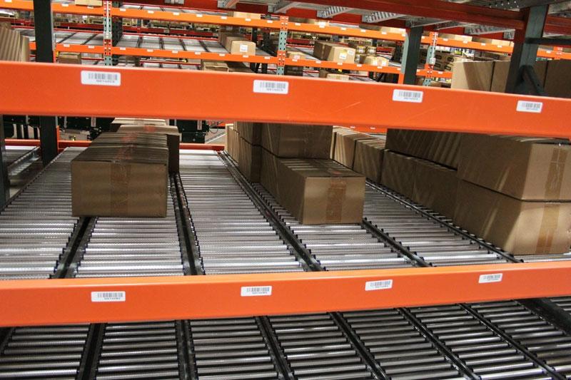 carton flow rack and gravity flow rack