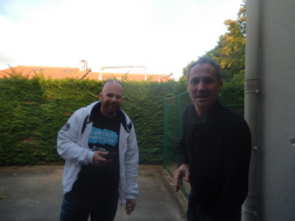 Le Papa d'Aydan et Daniel Camus