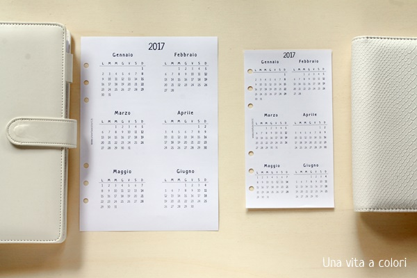Panoramica del calendario annuale per agenda