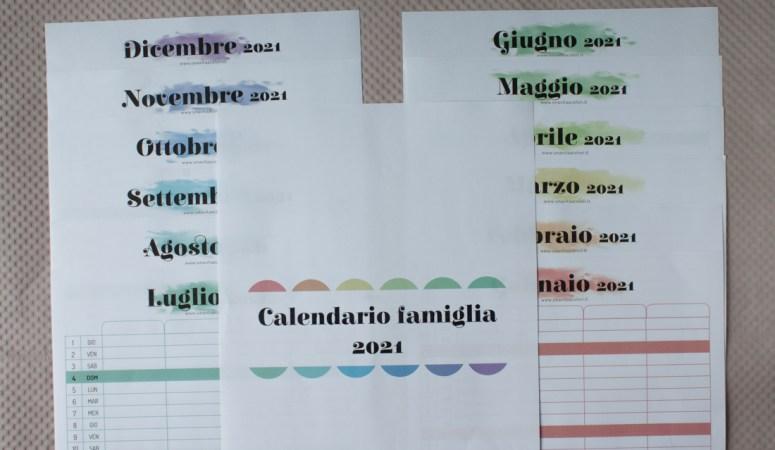 2021 calendario famiglia da stampare