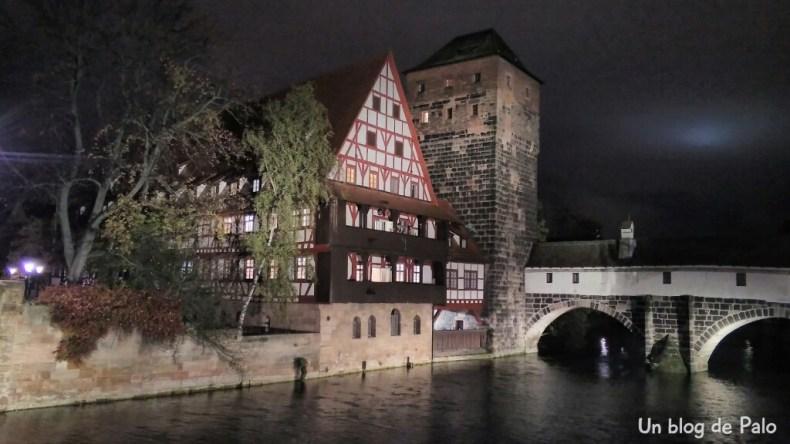 Vistas de Nuremberg de noche