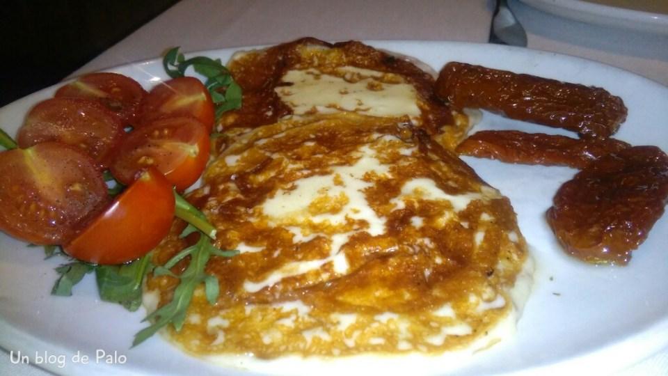 Restaurante Pulcinella, provola alla griglia