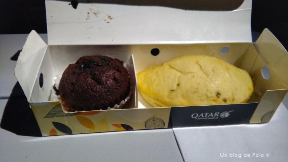 El desayuno de Qatar Airways