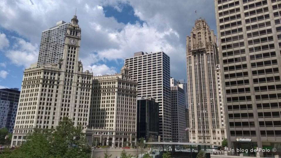 Torre del Tribune y Edificio Wrigey