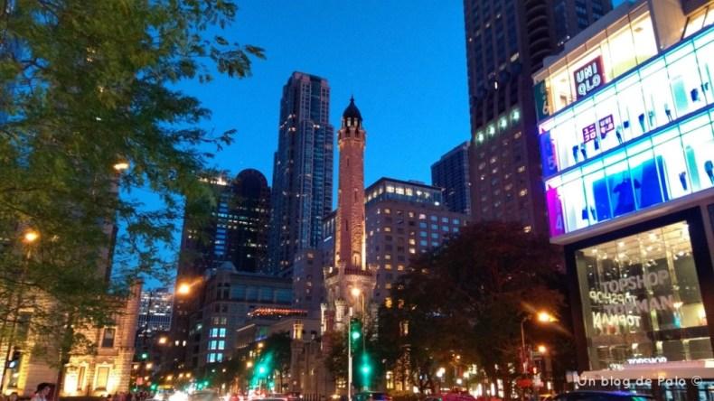 Atardecer en la Torre del Agua de Chicago