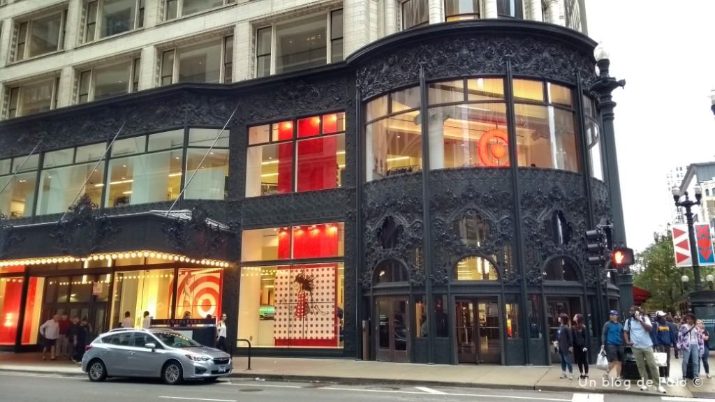 Portada del edificio Carson en Chicago