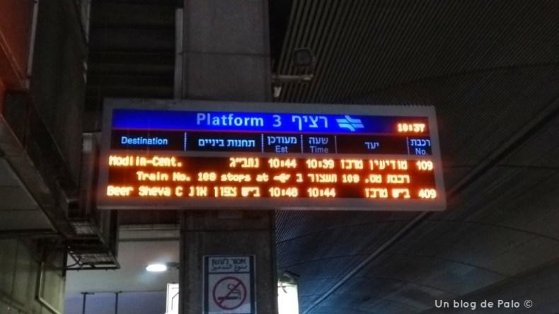 Tren para ir al Aeropuerto desde Tel Aviv