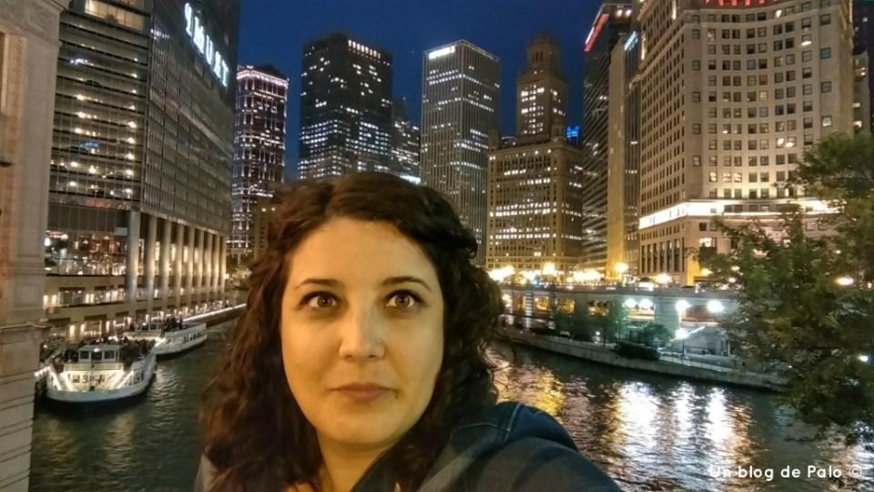 Cara de susto en el rio Chicago