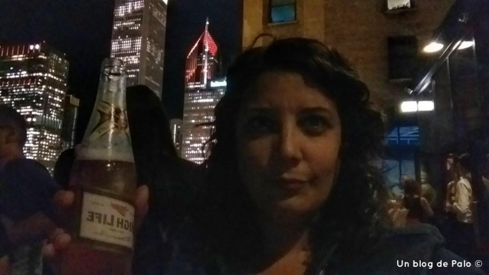 Cerveza en la terraza de Cindy`s