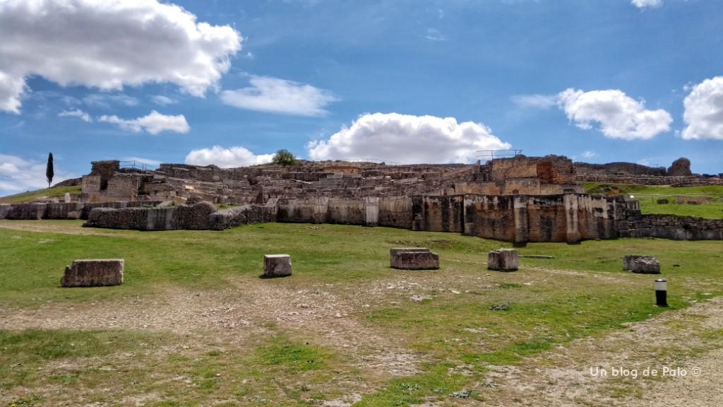 Vista de la ciudad de Segóbriga desde el Centro de Interpretación