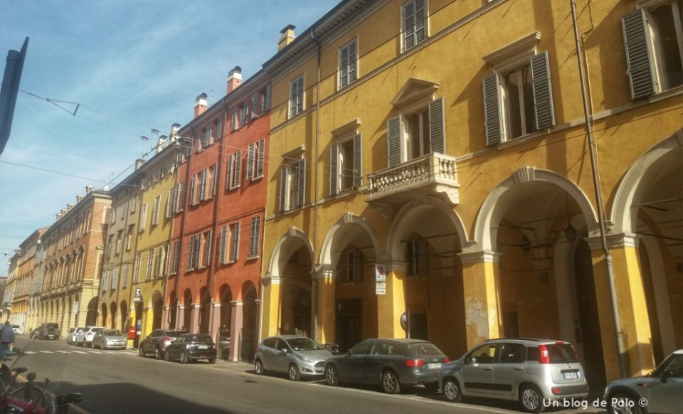 Calles de Módena en Italia