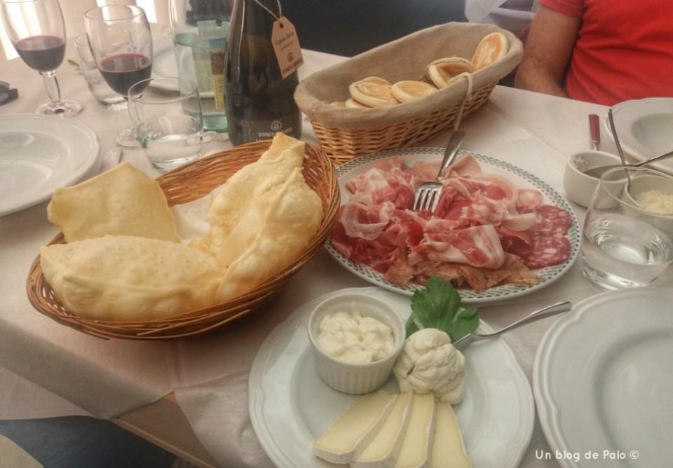 Gnocchi y tigelle en Módena