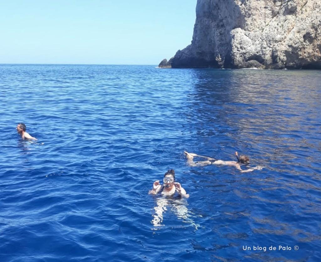 Snorkel en la excursión a las Islas Egadas