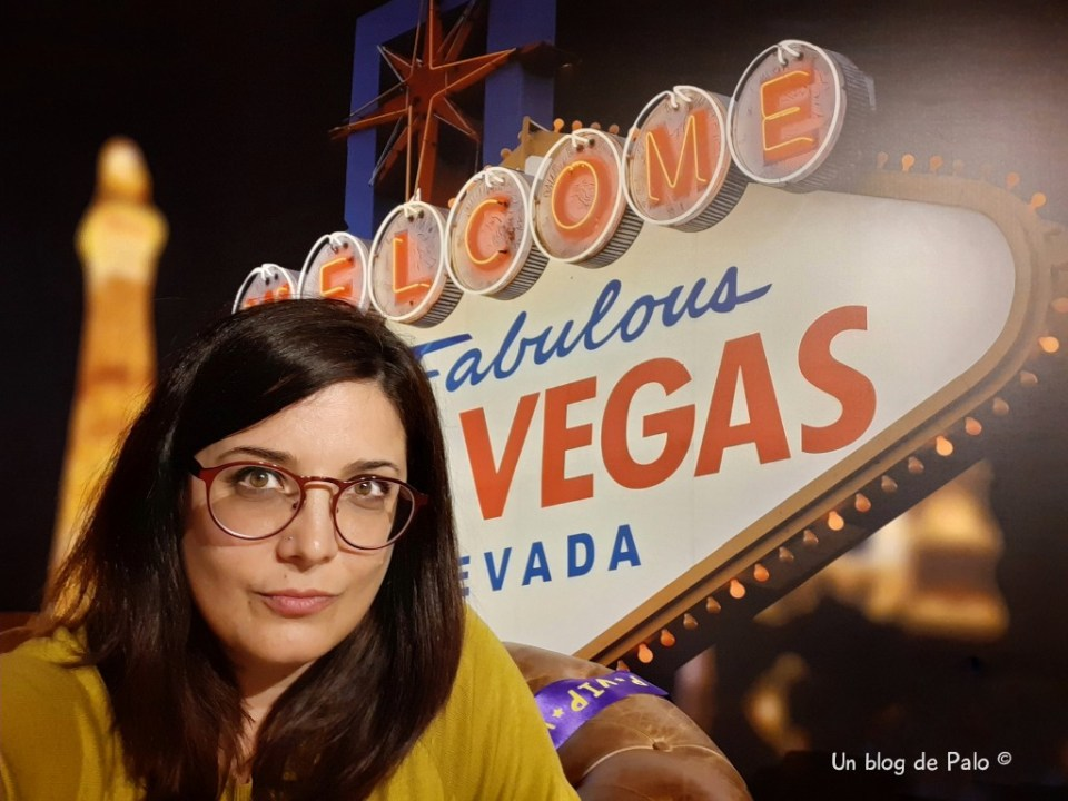 Palo en el cartel de Las Vegas