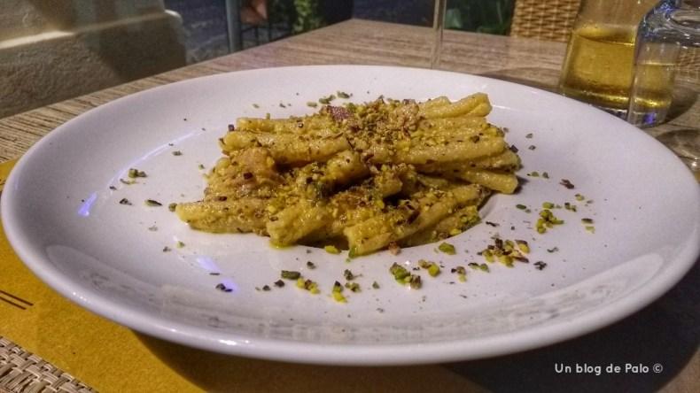 Pasta con Pistacho en Sicilia