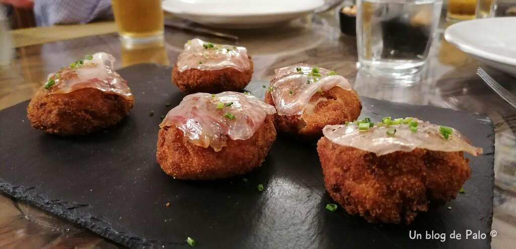 Croquetas de jamón en La Elisa