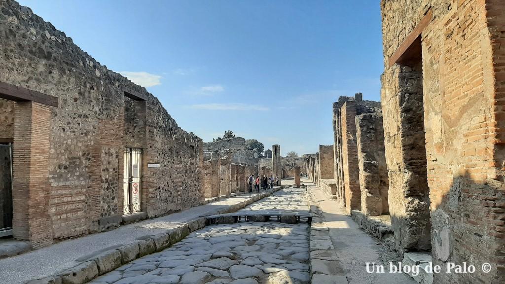 Vistas de Pompeya la ciudad arrasada