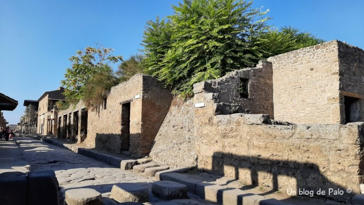 Calles de Pompeya sin gente