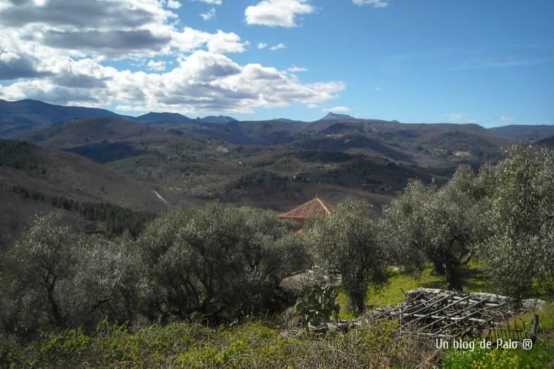 Vistas de la Sierra y al fondo la Peña de Francia desde Miranda