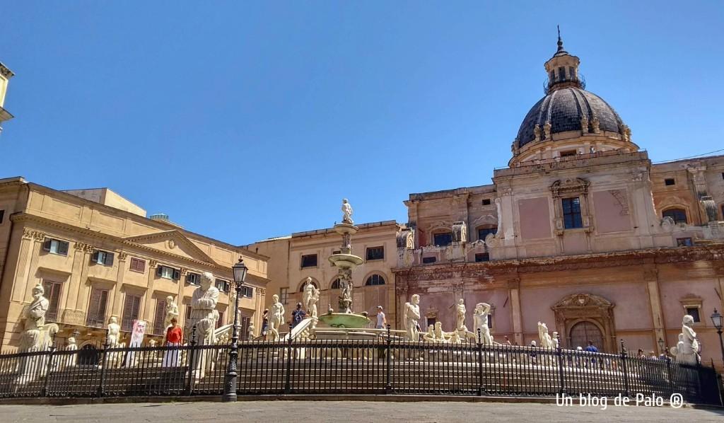 Piazza Pretoria en Palermo