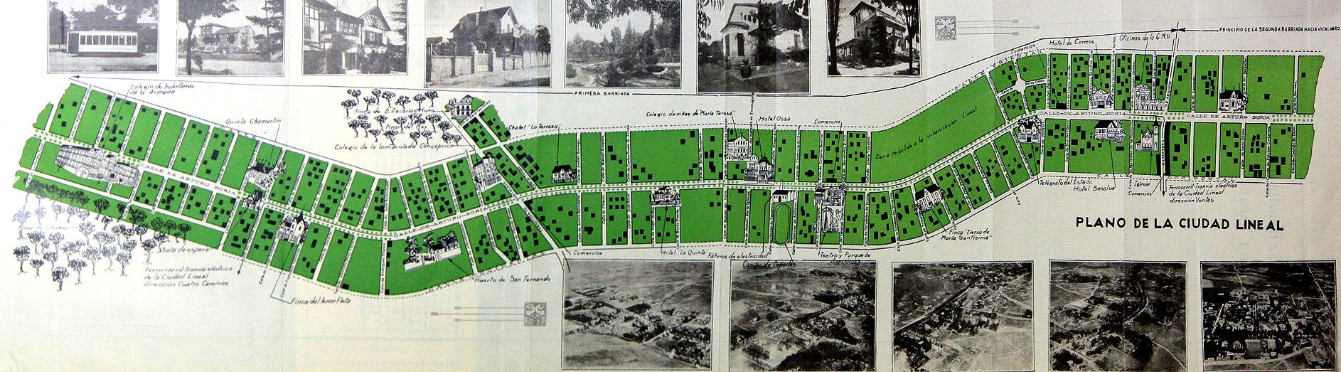 Plano de la Ciudad Lineal. (Foto: Archivo C.M.U)