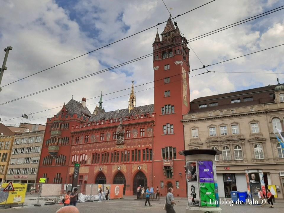 La Marktplatz y el ayuntamiento de Basilea