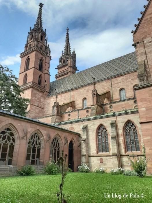 Catedral de Basilea desde uno de sus claustro