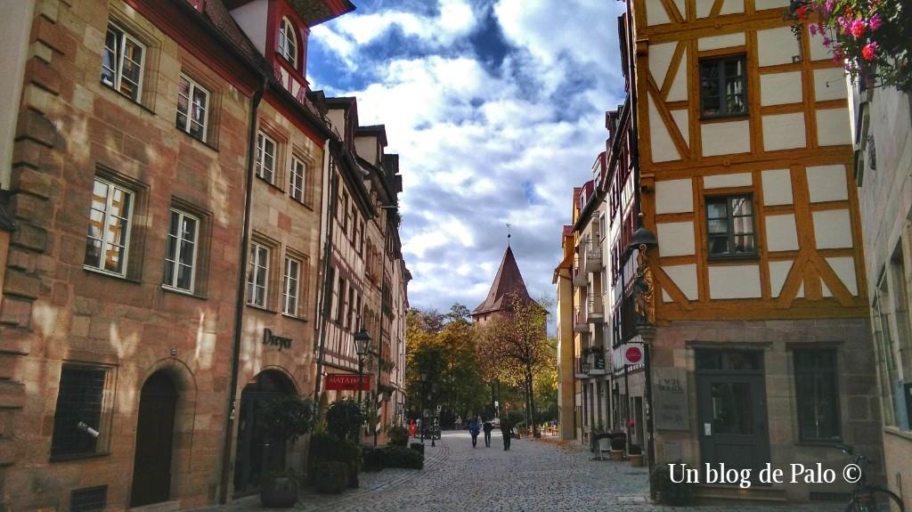 Calles encantadoras en Núremberg