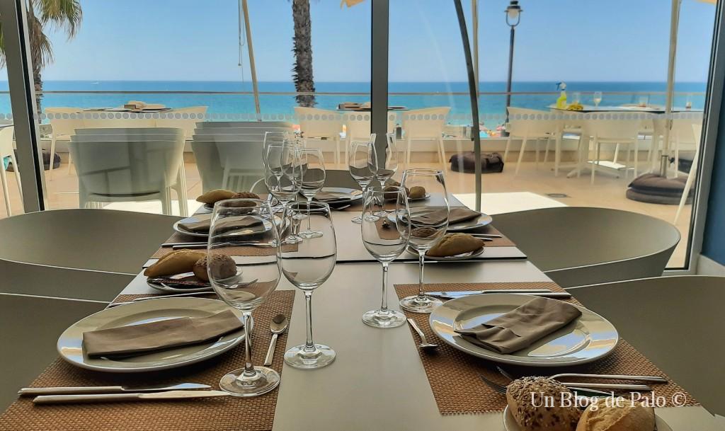 Del mar a la mesa... vistas desde el Hotel Restaurante Agaró