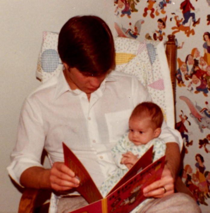 Dad Reading A Book To Me