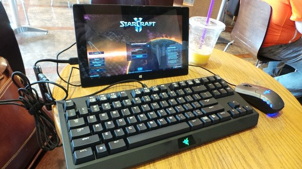 Your tablet can run Angry Birds Star Wars? Ours can run Starcraft II and Diablo 3! Lol.
