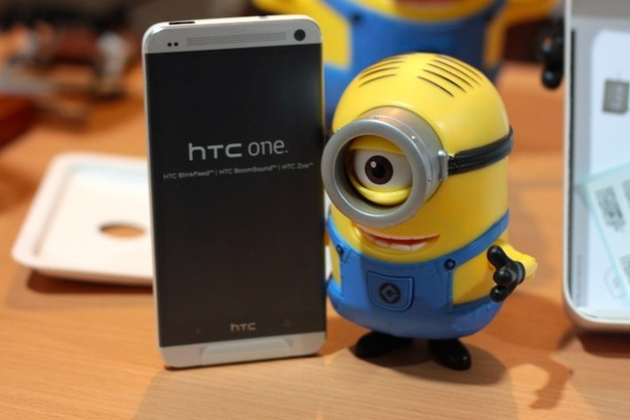 Go minions! Unbox the HTC One! Lol.