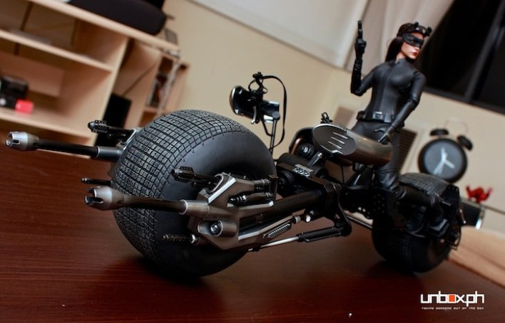Selina Kyle with the Bat Pod from Hot Toys
