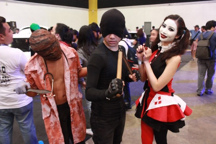 Daredevil and Harley! Dude on the far left I don't know :o