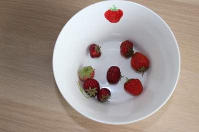 mes fraises dans un bol