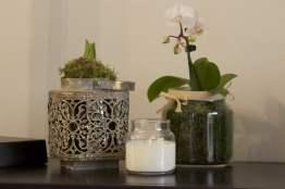Bougie cire de soja et orchidée