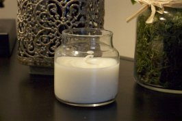 Bougie recyclée avec cire de soja