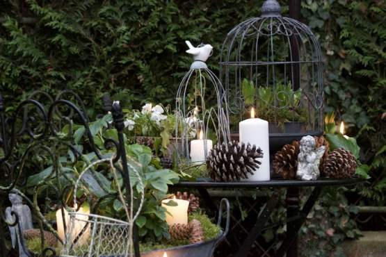 Un jardin Shabby Chic pour Noël