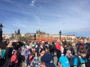 Les touristes à Prague