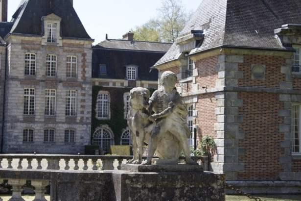Château de Courances côté arrivée