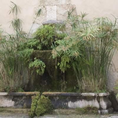 Fontaine aux jardins d'Alfàbia à Majorque