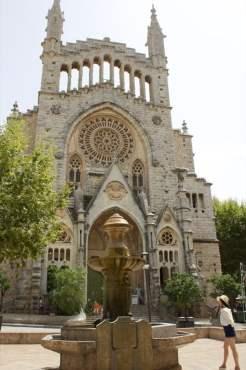 Plaça constitució à Sóller, Majorque.